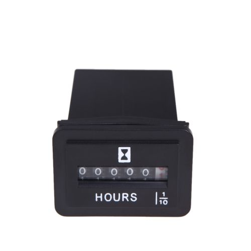 DC 6V-50V Hour Meter Hourmeter Gauge for Boat Car Truck ... on