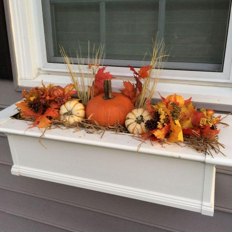 20 diy fall garden box decorating ideas at window fall