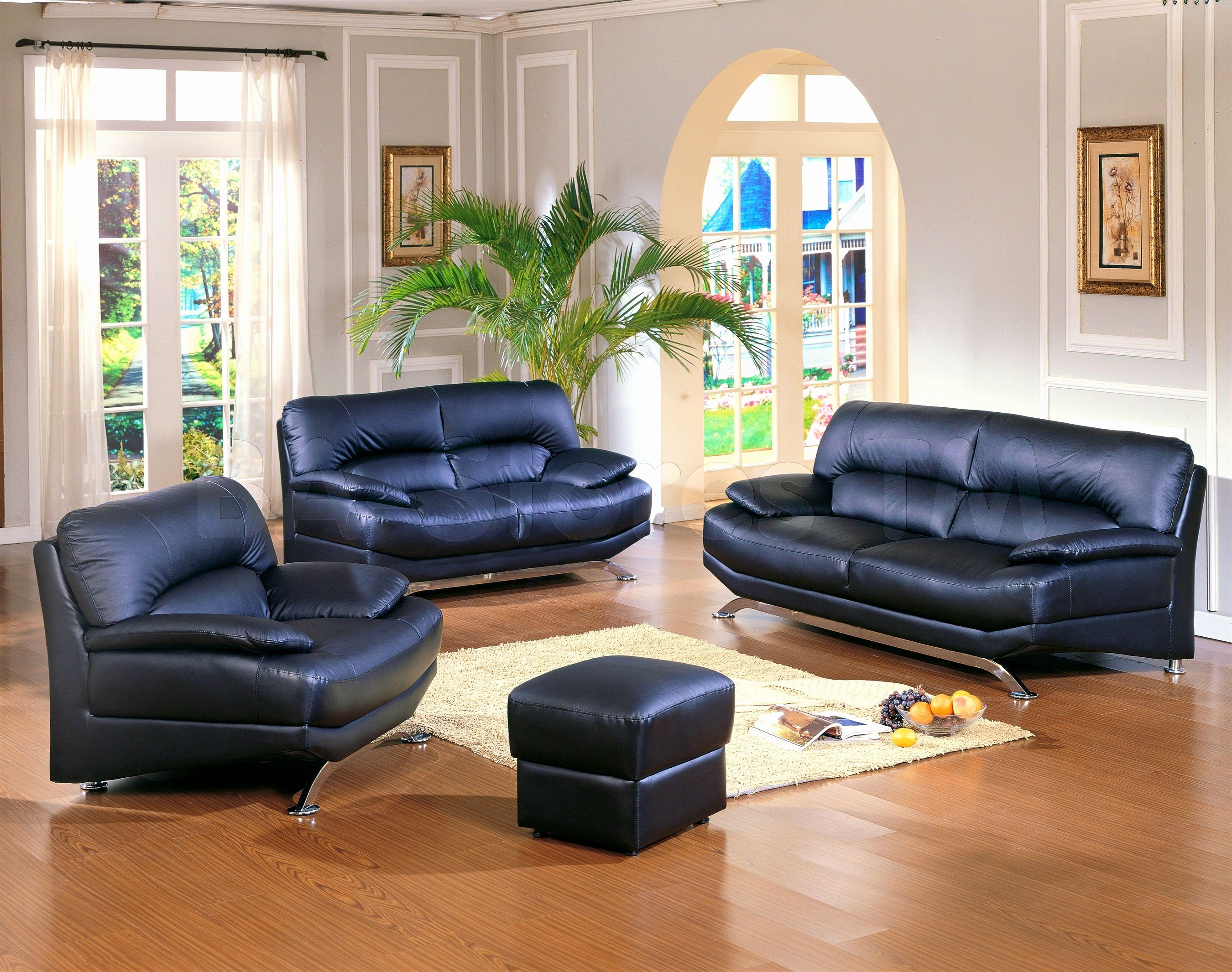 Awesome Living Room With Leather Sofa Image Living Room