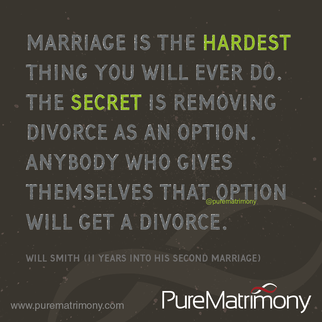Never think about it! To find your Perfect Spouse, subscribe to Pure