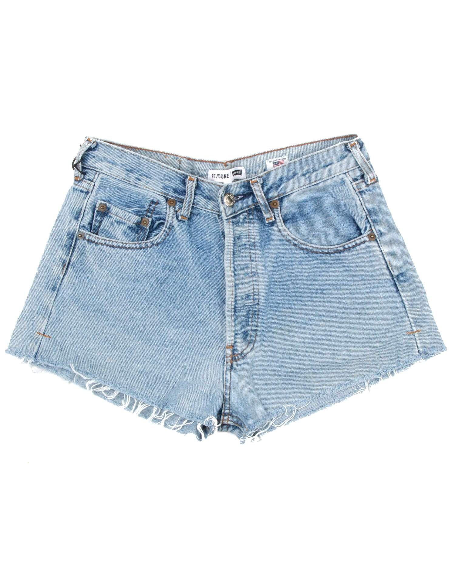 Vintage Levi's | The Shorts | Light Blue | Size 23 | No. 23TS1164187 | Denim #lightblueshorts