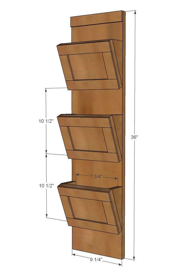 Ana White Build A Wood Mail Sorter With Key Hooks Free