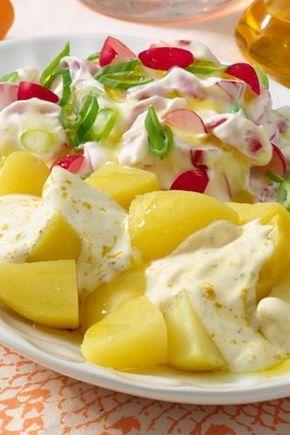 Kartoffeln mit Radieschen-Quark