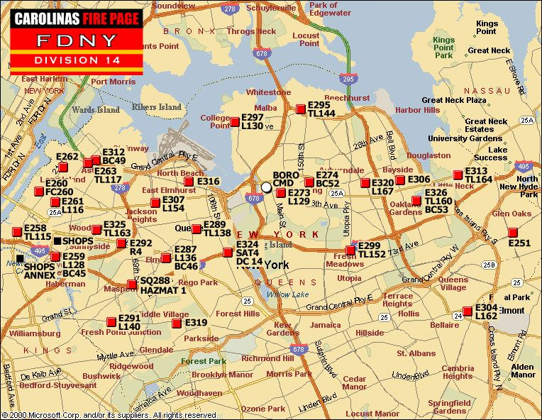 Fdny Division Map FDNY DIVISION 14 Fire brigade deployment map | FDNY | New york