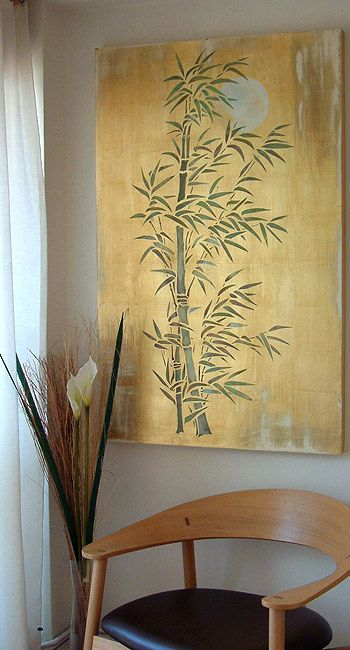 Oversize Bamboo And Moon Stencil