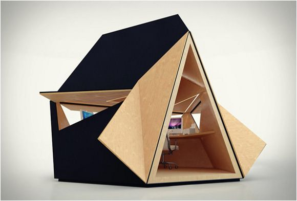 Le tetra shed un bureau design et modulable micro for Architecture modulaire