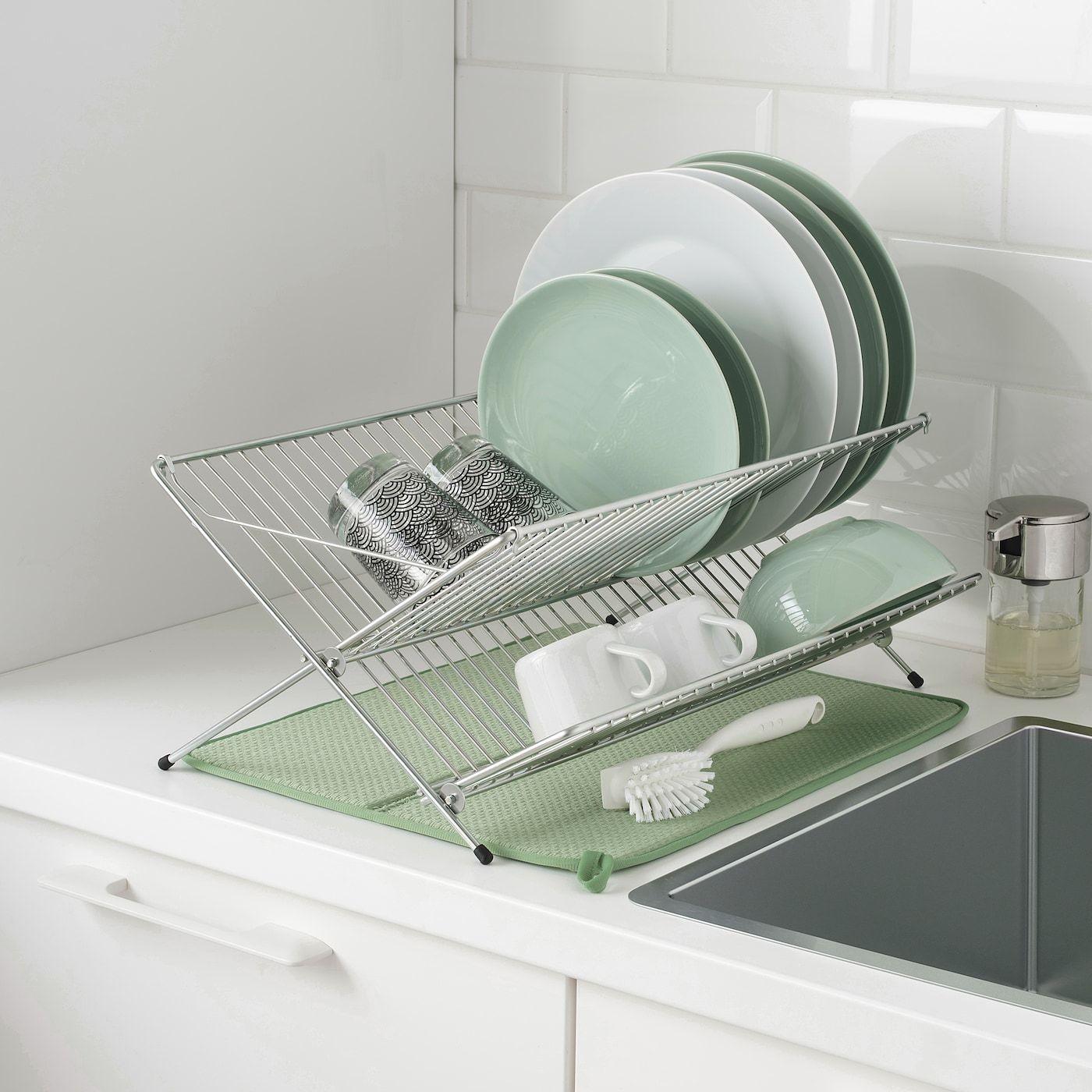 Ikea Nyskoljd Dish Drying Mat In 2020 Dish Drying Mat Ikea Washing Dishes