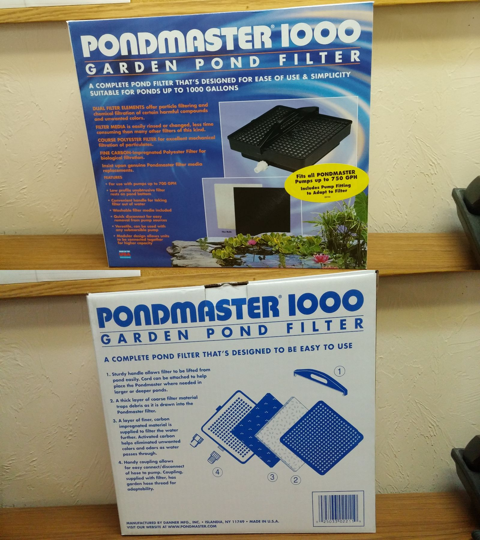 Fish Pond Supplies 134750 Pondmaster Garden Pond Filter Up To 1000 Gallons Buy It Now Only 39 89 On Ebay Supplies Pond Filters Pond Filters