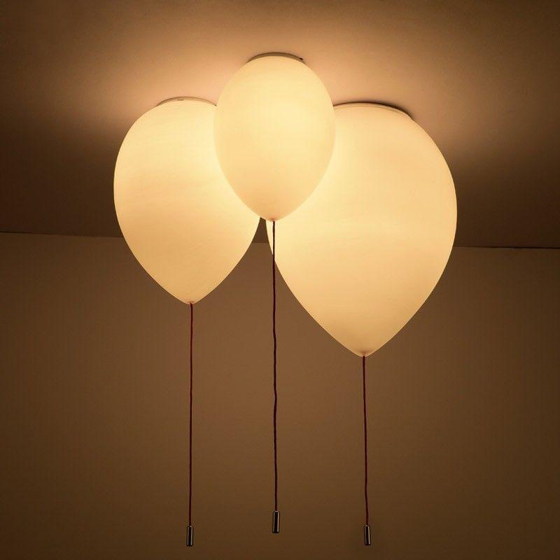 Minimalist Adorable White Balloon 1 Light Creative Flush Mount Ceiling Light Bedroom Ceiling Light Ceiling Lamps Living Room Ceiling Lights