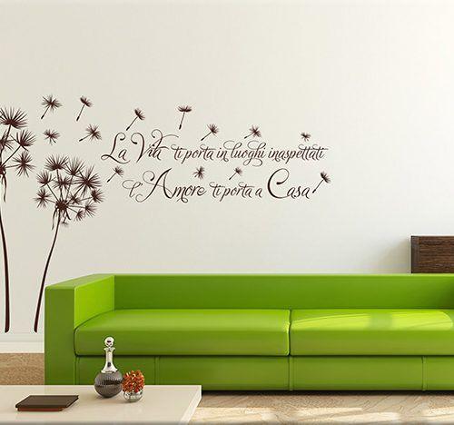 Adesivi Murali Vasco Rossi.Adesivi Murali Soffioni Frase Casa Arredo Adesivi Murali Love By