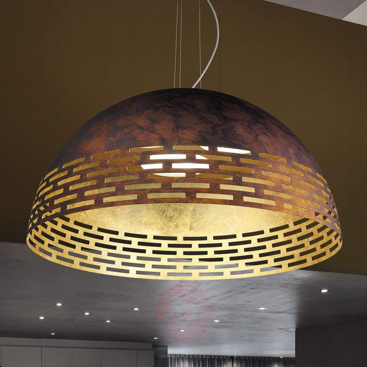 Efektowna metalowa lampa wisząca LED Greka   Lampy, Lampa