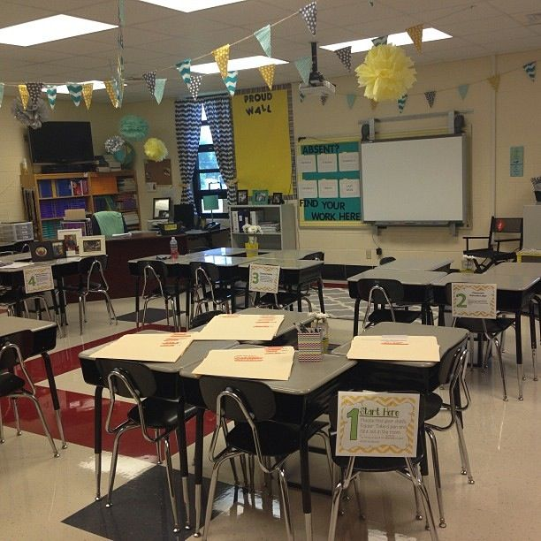 Yellow Classroom Decor ~ Teal yellow and grey classroom theme