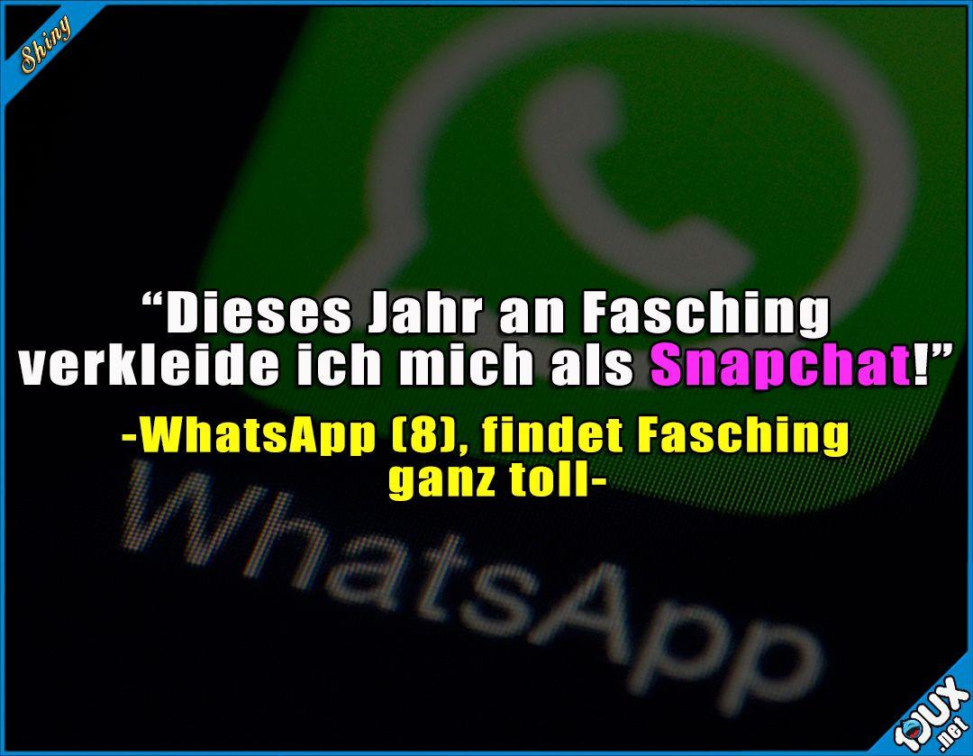 Whatsapp Will Auch Mal Bei Fasching Mitmachen Fasching