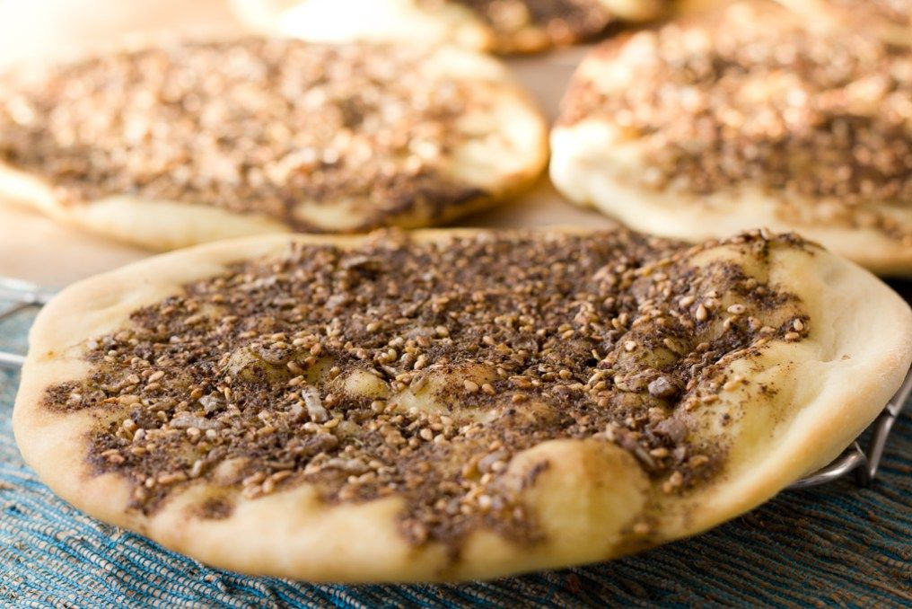 Zatar-Brot: Rezept für libanesische Manakish › bistro badia ...