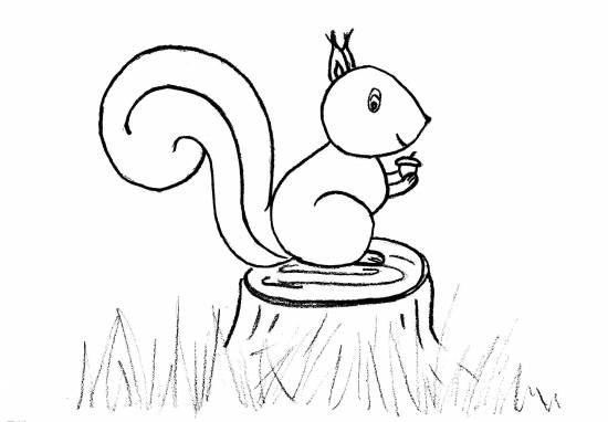 herfstknutsel eekhoorn herfst knutselen eekhoorn