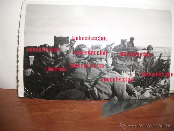 Militaria: Batalla de Belchite antigua fotografia original papel postal 12.5 x 8.3 Guerra civil - Foto 1 - 50285873