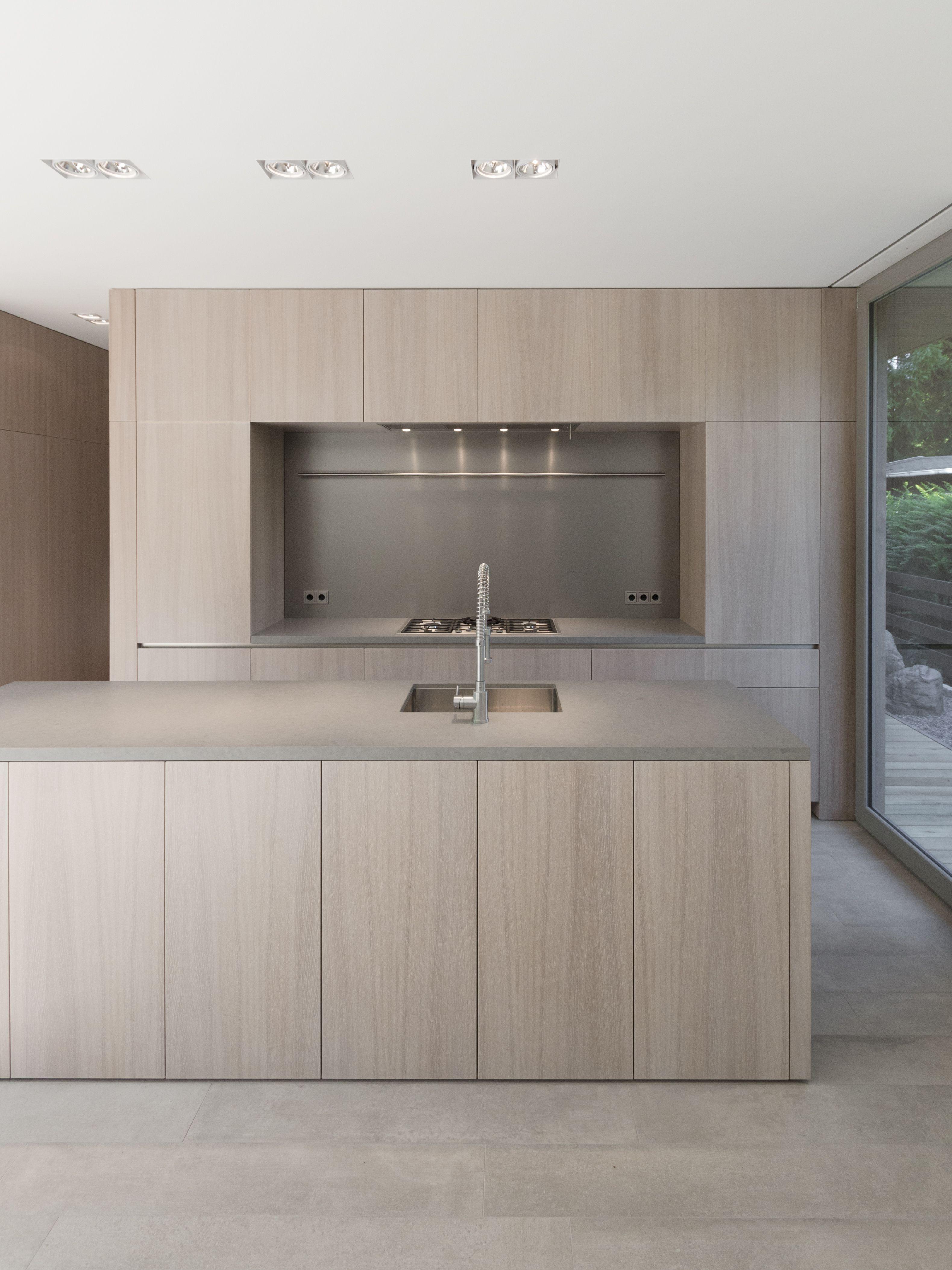 Moderne Kuche Mit Holzboden Kuche Holz Beton