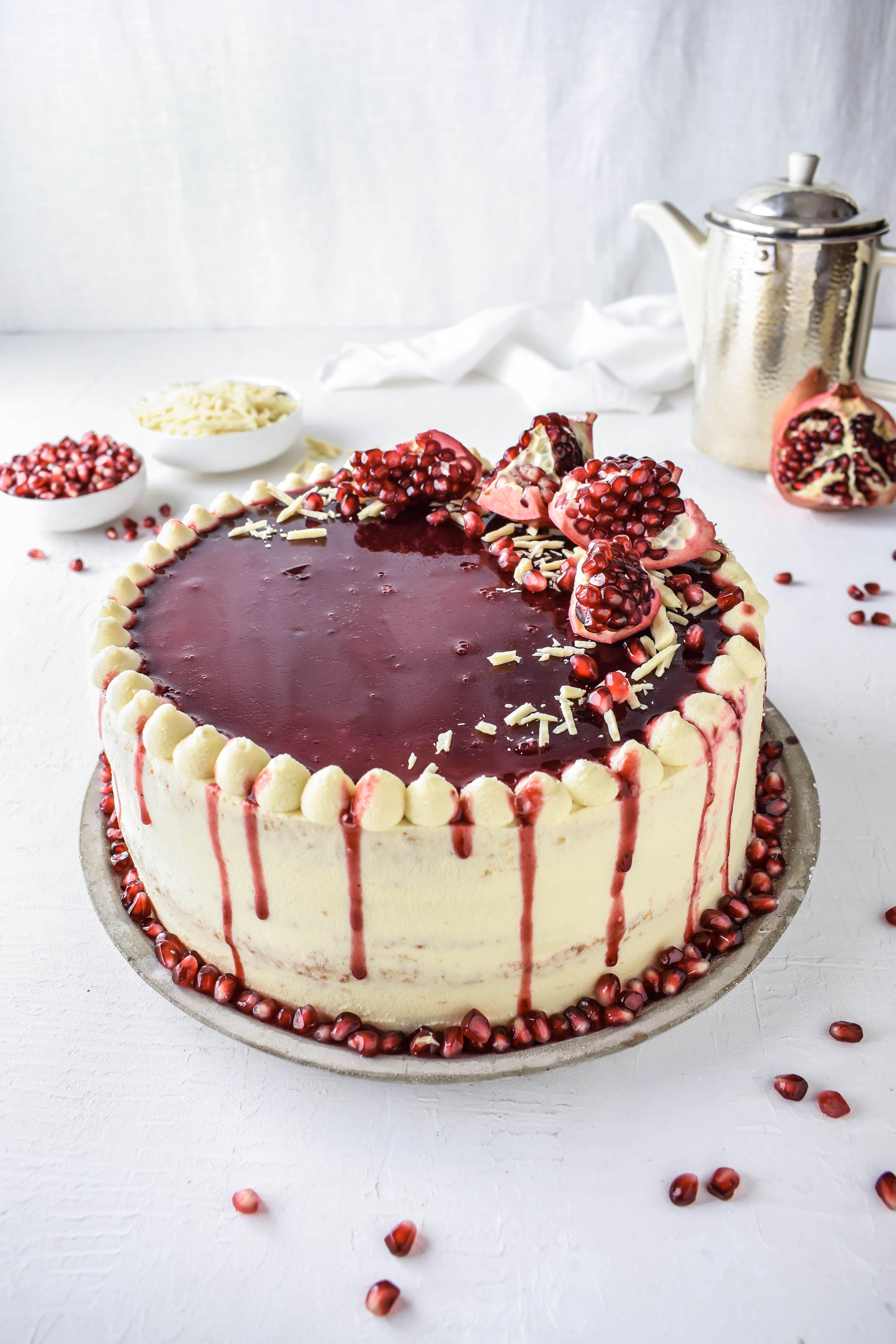 Granatapfel Weisse Schokoladen Torte Mit Mascarpone Schokolade Torten Rezepte Kuchen Und Torten Rezepte Torte Mit Mascarpone