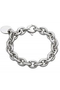 Bracelet Chaine Grand Modèle Et Médaille Ronde En Argent Mif Christofle 6731024