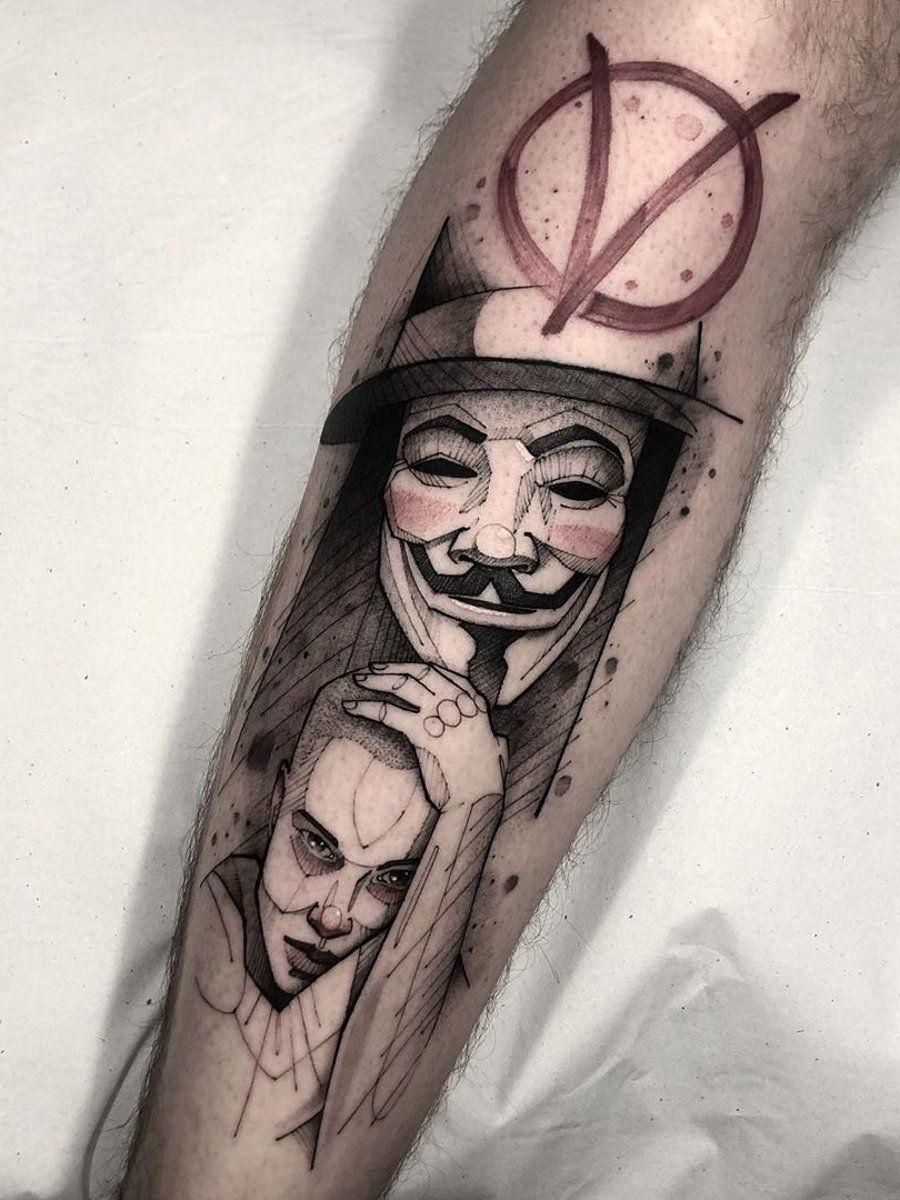 Ramon On Twitter V For Vendetta Tattoo Vendetta Tattoo Watch Tattoos