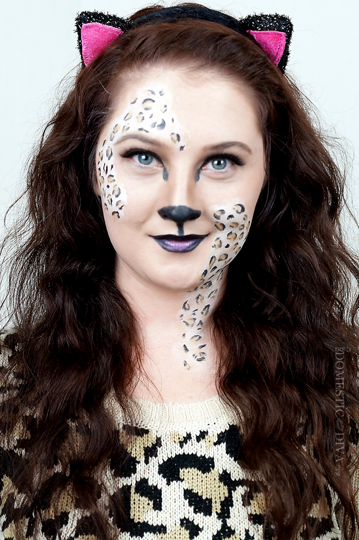 leopard halloween costume makeup video tutorial using products from