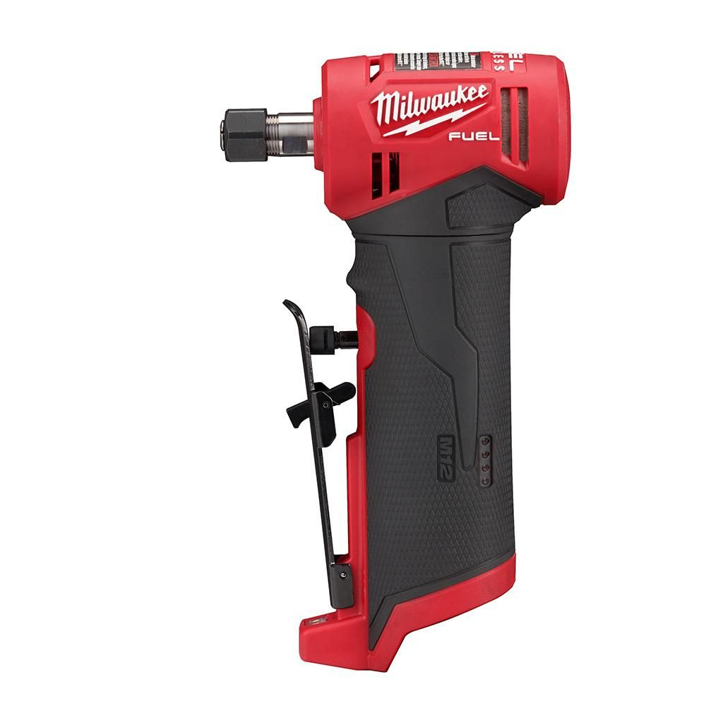Milwaukee M12 Fuel 12 Volt Lithium Ion Brushless Cordless 1 4 In Right Angle Die Grinder Tool Only 2485 20 Die Grinder Milwaukee M12 Cordless Power Tools
