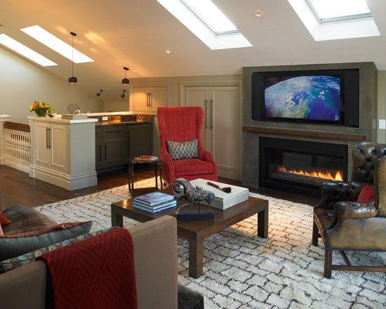Attic Spaces Design Ideas Pictures Remodel And Decor Attic Living Rooms Bonus Room Design Remodel Bedroom