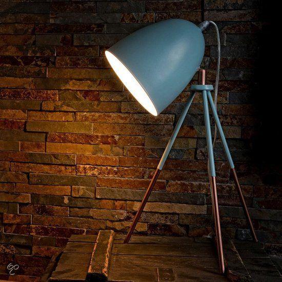 eglo vintage tafellamp 1 lichts mint blauw