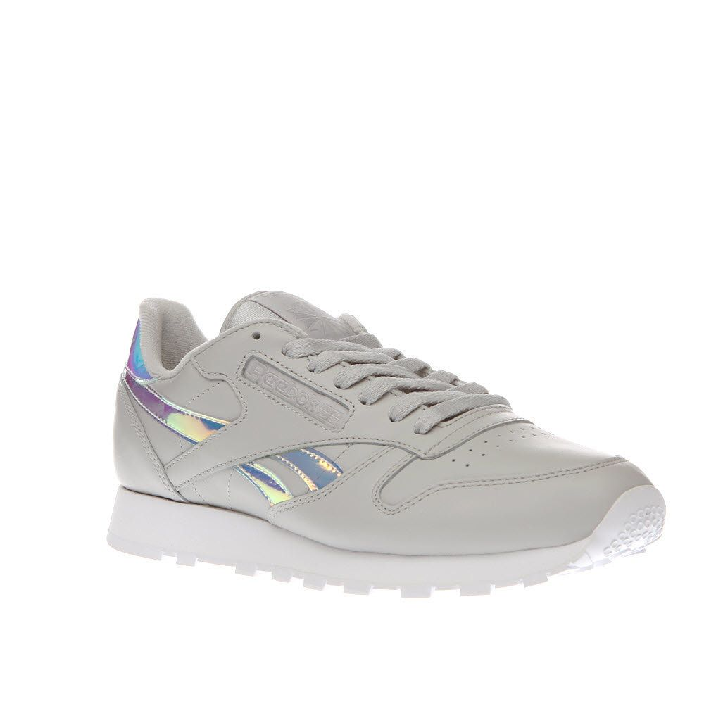 f450564aacd Womens Light Grey Reebok Classic Iridescent Leather Rd X-Ray Trainers
