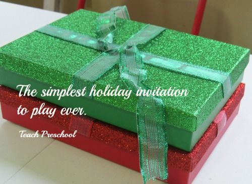 The Simplest Holiday Invitation To Play Ever Holiday Invitations Christmas Preschool Theme Invitation To Play