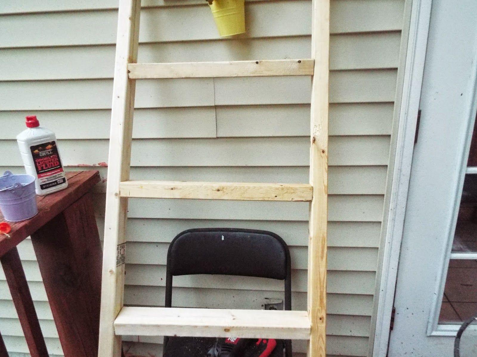The Decoratoraholic Diy Ladder Shelving Unit For The