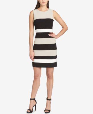 aea0e5a0c1 Tommy Hilfiger Colorblock Sheath Dress   Products   Dresses, Tommy ...