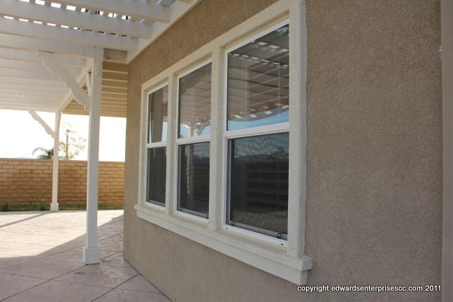 Residential Home Stucco Patch Repair Project Around Side Windows