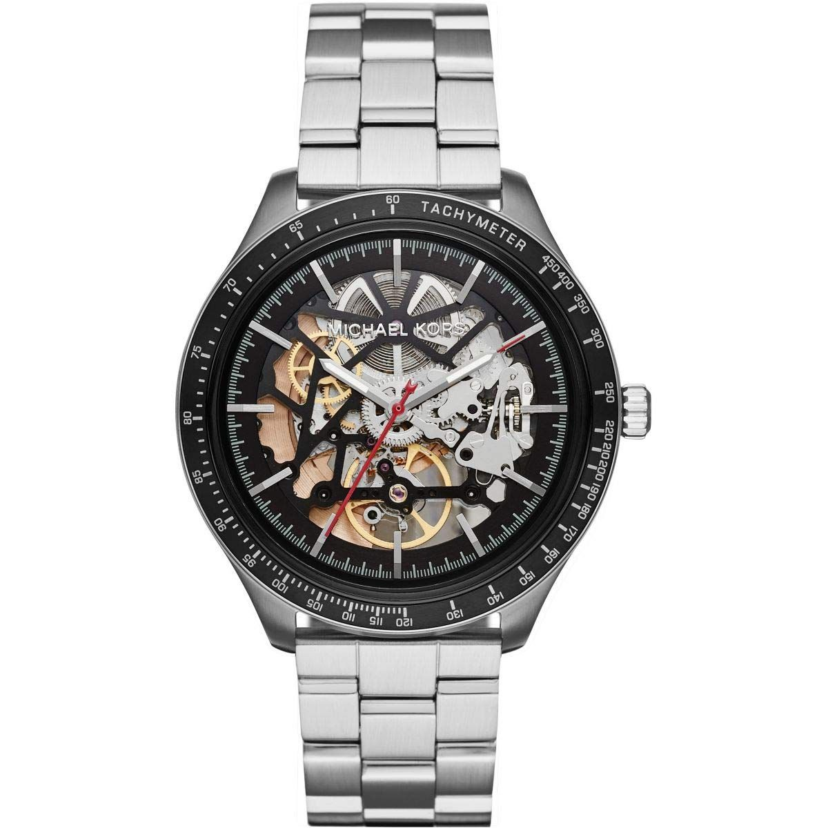 ae69d5eed617 Michael Kors Mens Analogue Automatic Watch with Stainless Steel Strap  MK9037  Amazon.co.