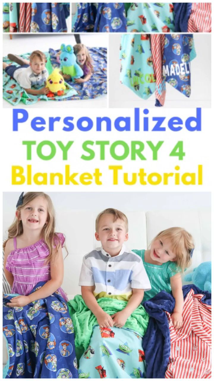 Photo of Toy Story 4 Personalized Blanket Sewing Tutorial