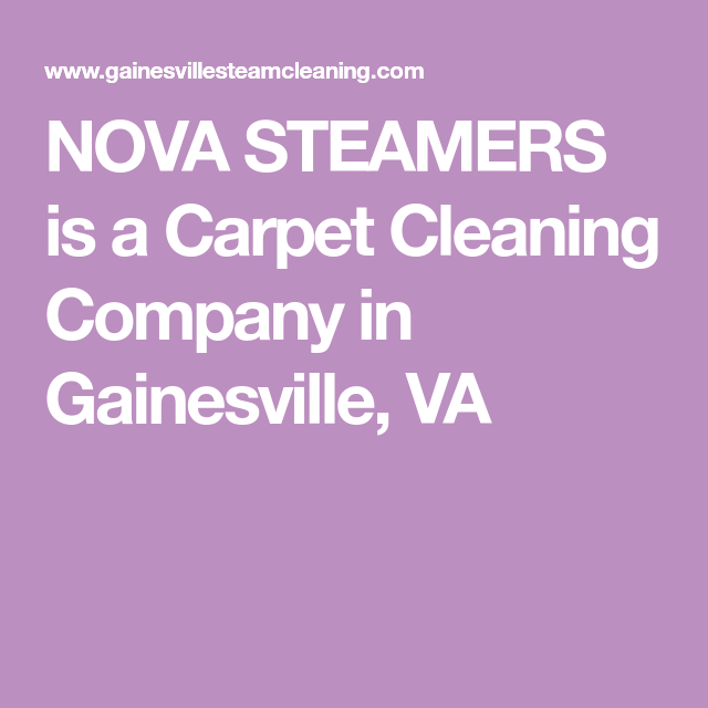 Nova Steamers Is A Carpet Cleaning Company In Gainesville Va Carpet Cleaning Company Steamer Nova