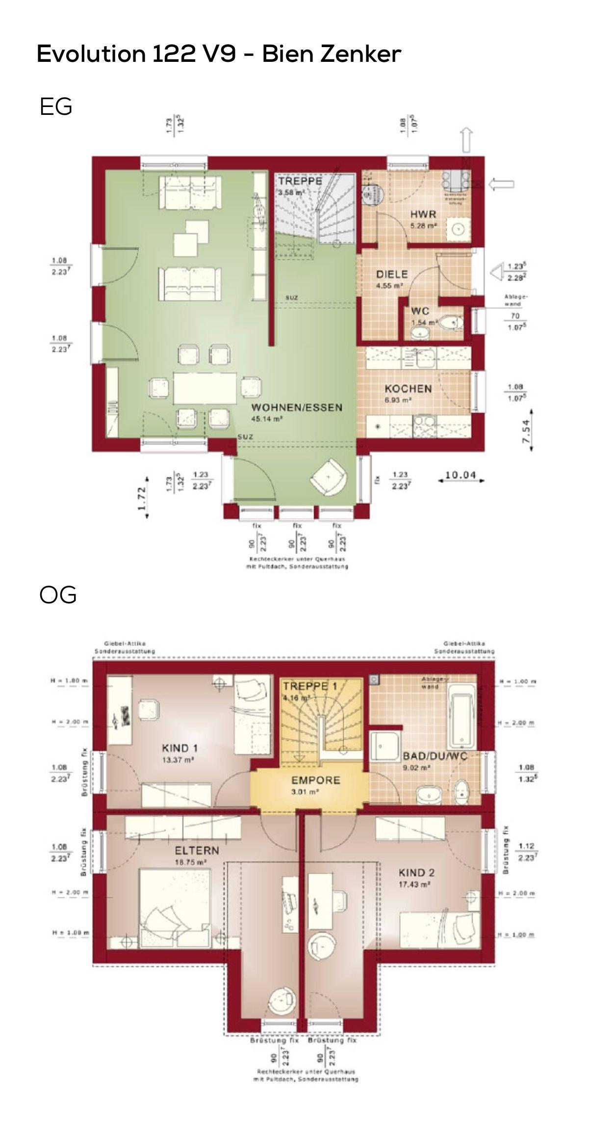 Großzügig Hauspläne Küche Im Obergeschoss Galerie - Küchenschrank ...