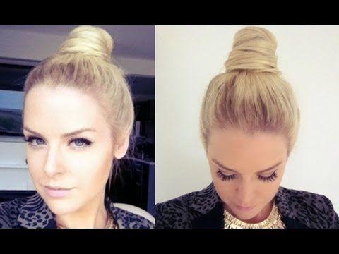 Top Knot Bun Hairstyles Hair Bun Tutorial Hair Tutorial