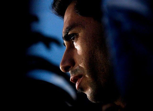 17 de Septiembre de 2012/SANTIAGO   El arquero de Universidad de Chile, Johnny Herrera, dio una conferencia de prensa, luego del entrenamiento de su equipo, no dio mayores explicaciones por su detención en la madrugada de hoy, ya que en un control policial, la alcoholemia que fue sometido arrojo mas de lo permitido.  FOTO:FRANCISCO SAAVEDRA/AGENCIAUNO