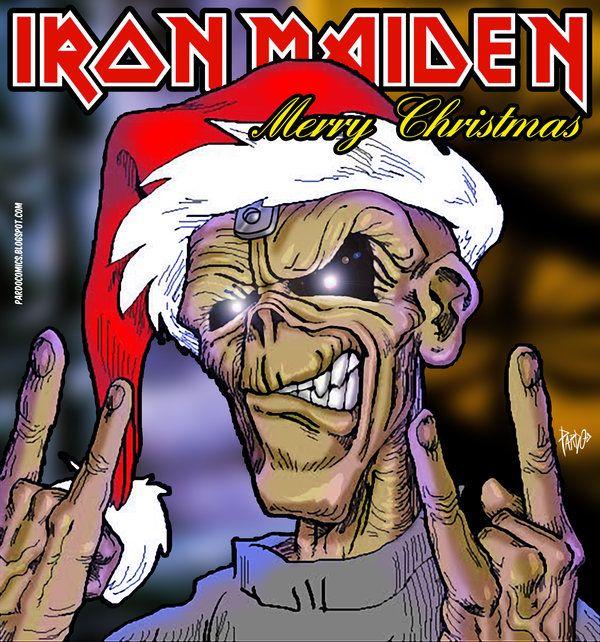 iron maiden merry christmas by pardocomics eddie iron. Black Bedroom Furniture Sets. Home Design Ideas