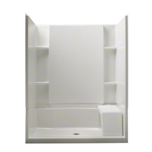 Sterling Plumbing Accord 60 X 36 Complete Seated Shower With