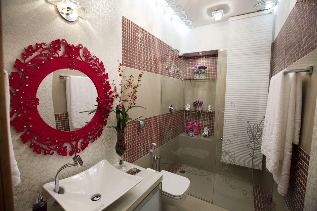BANHEIRO MENINA ADESIVO BOX  Decoração ️  Pinterest  Espelho vermelho, Ban -> Adesivo Banheiro Feminino