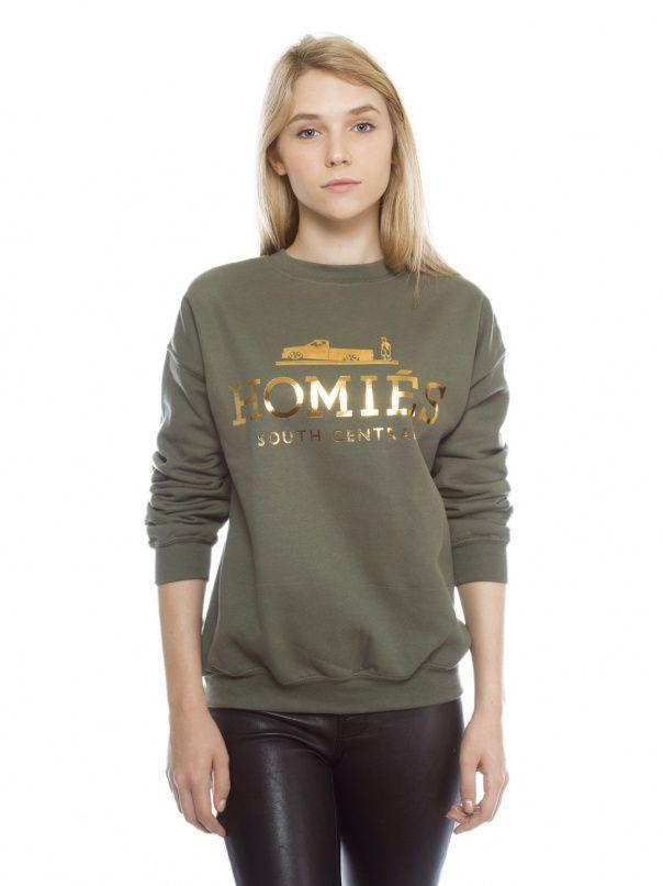 Brian Lichtenberg Homie's sweatshirt in army green at Kitson.