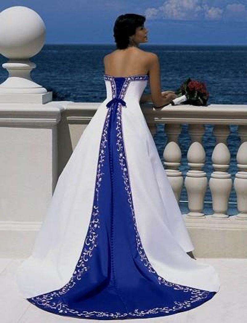 Simply royal blue and silver wedding dresses allowed for you to my