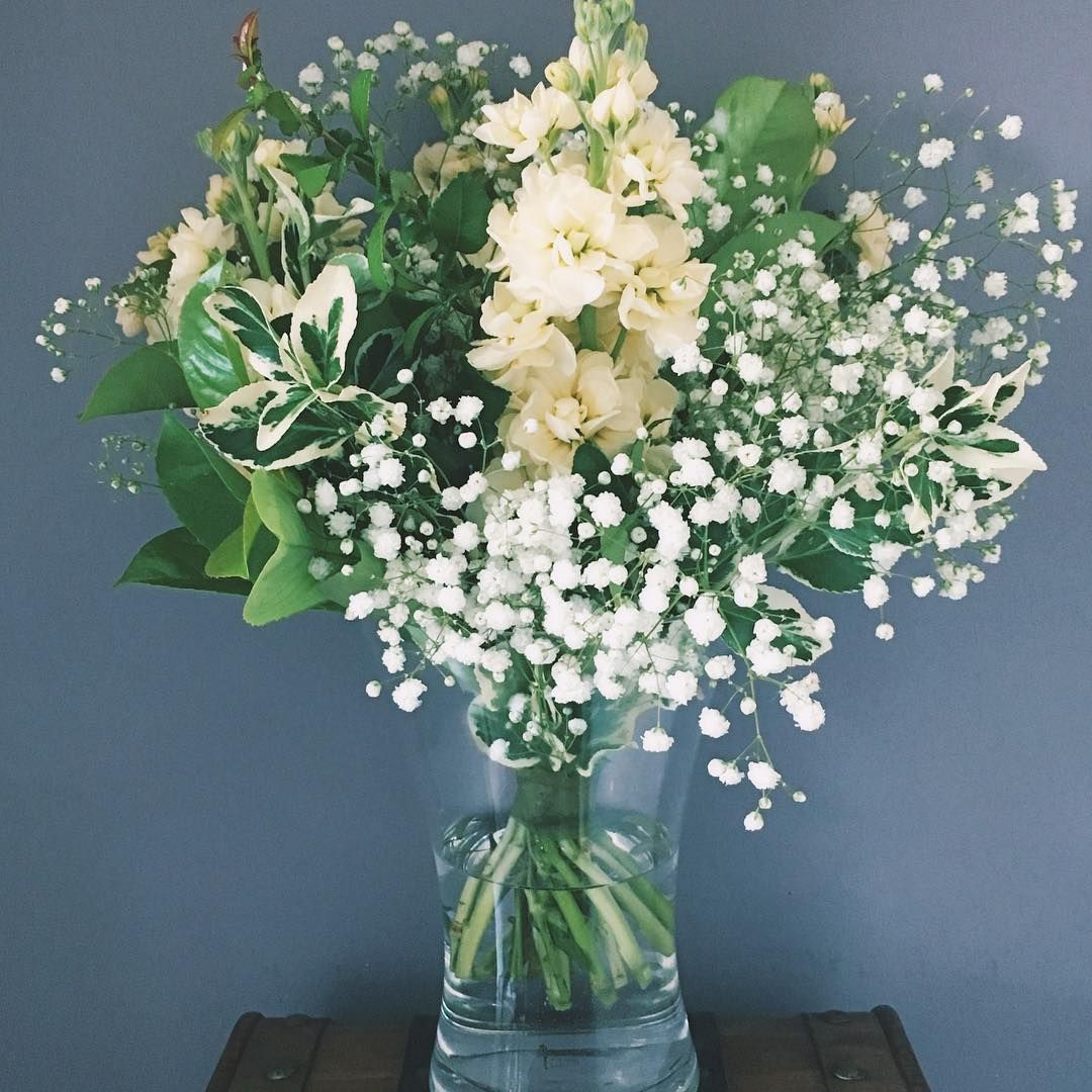 This Bouquet For 25th Birthday Was Made With Tuberose Baby S Breath Flowers And Different Types Of Foliage Tuberos Flower Arrangements 25th Birthday Flowers