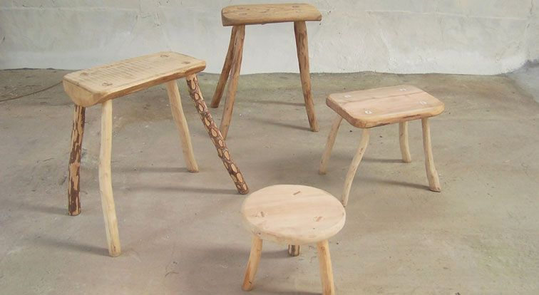 Image Of Stools Made On Green Wood Course
