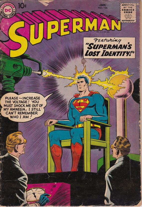 Superman 126  January 1959 Issue  DC Comics  Grade by ViewObscura