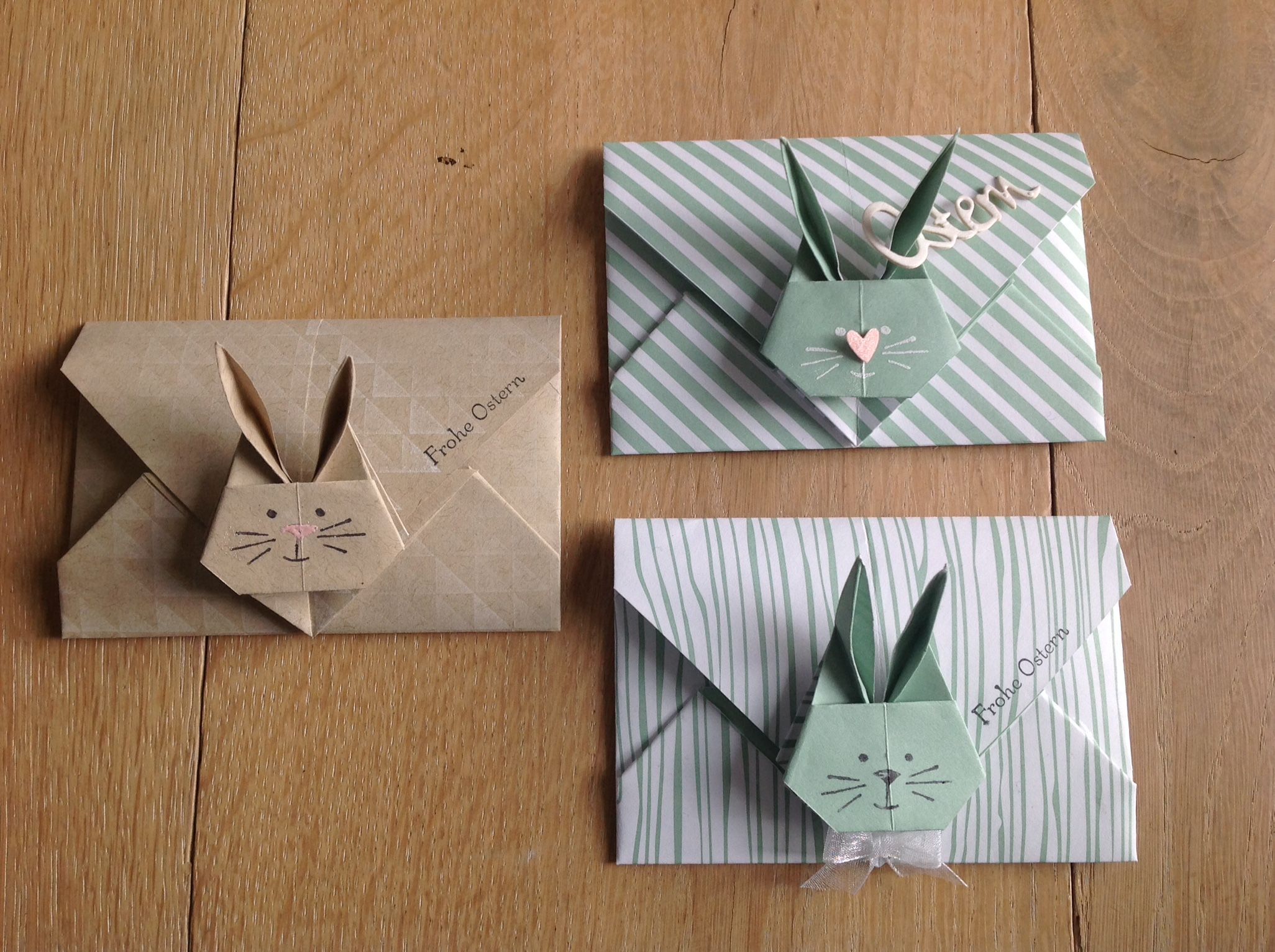 stampin 39 up umschlag origami hase rabbit ostern pinte. Black Bedroom Furniture Sets. Home Design Ideas