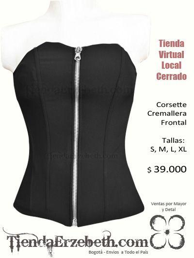 cef3d6bf2 corset tela bogota cremallera adelante negro amarrar cordon medellin cali…