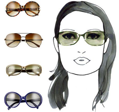 9eaccd556c17c7 sunglasses for square face shape  Curvy frames to soften strong jaw,  oversize styles so your face appears smaller.
